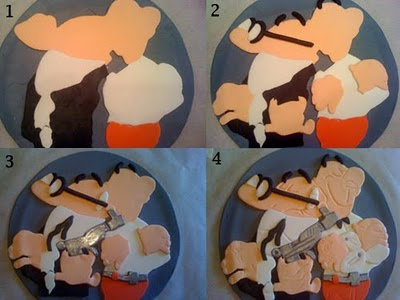 Técnica del puzzle fondant