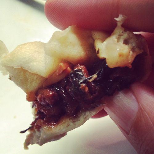Baozi de carne y espinacas