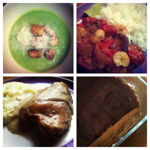 Dos platos y postre
