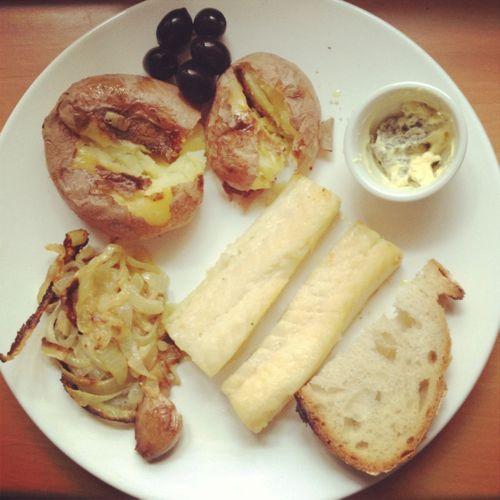 Bacalao con patatas al horno al estilo portugués