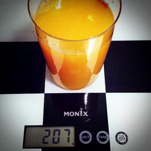 zumo de una naranja
