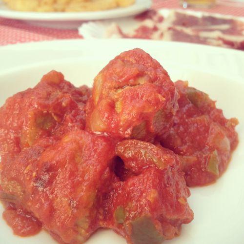 Pedacitos con tomate
