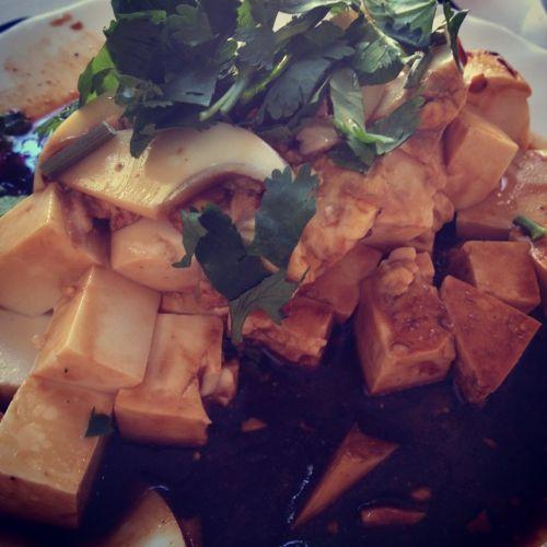 Tofu con soja (plato frío)