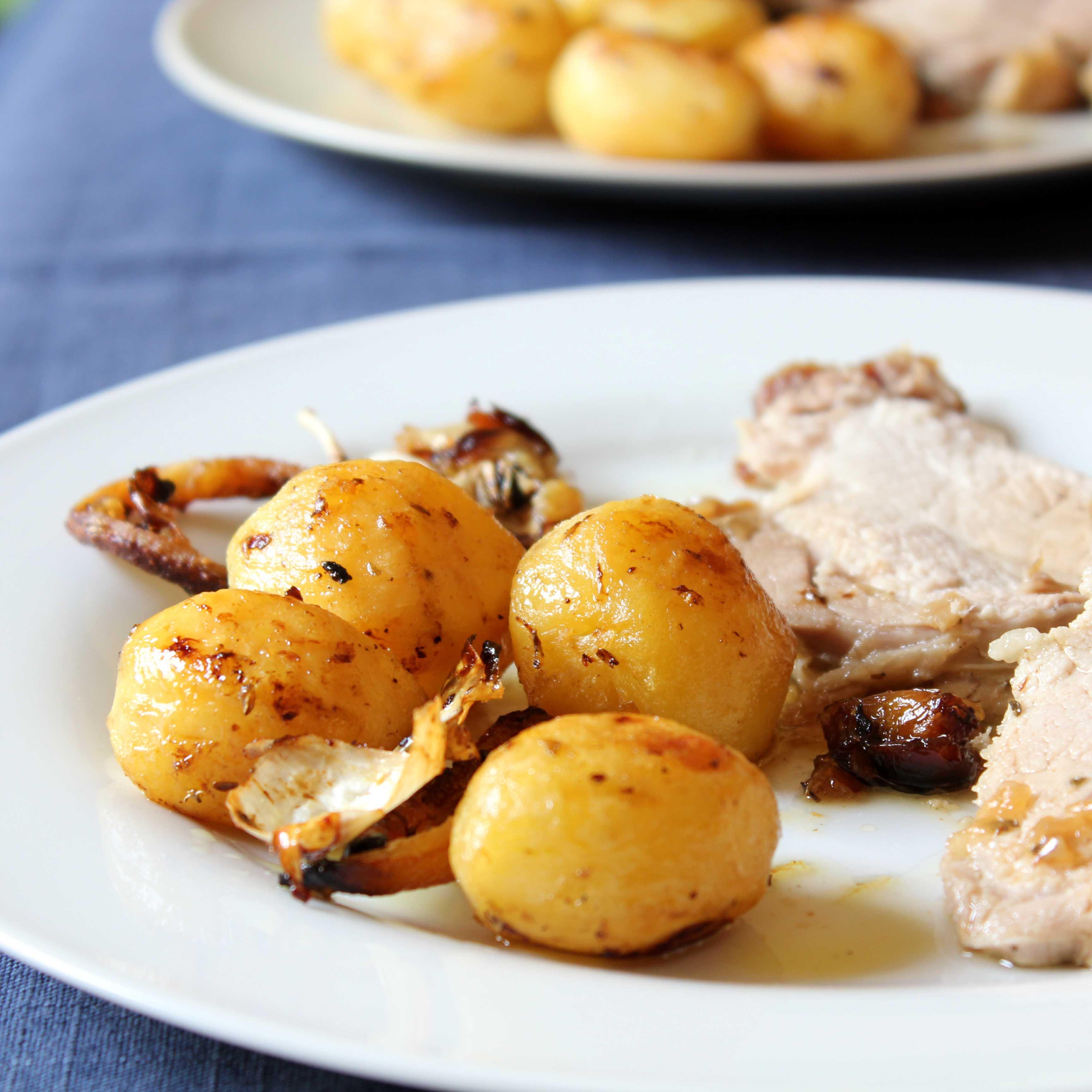 Patatas asadas con orégano y limón