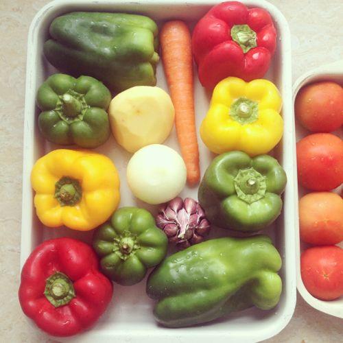 Comida de colores
